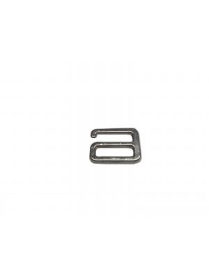 Gancho metal de 13mm com 100 unidades prata
